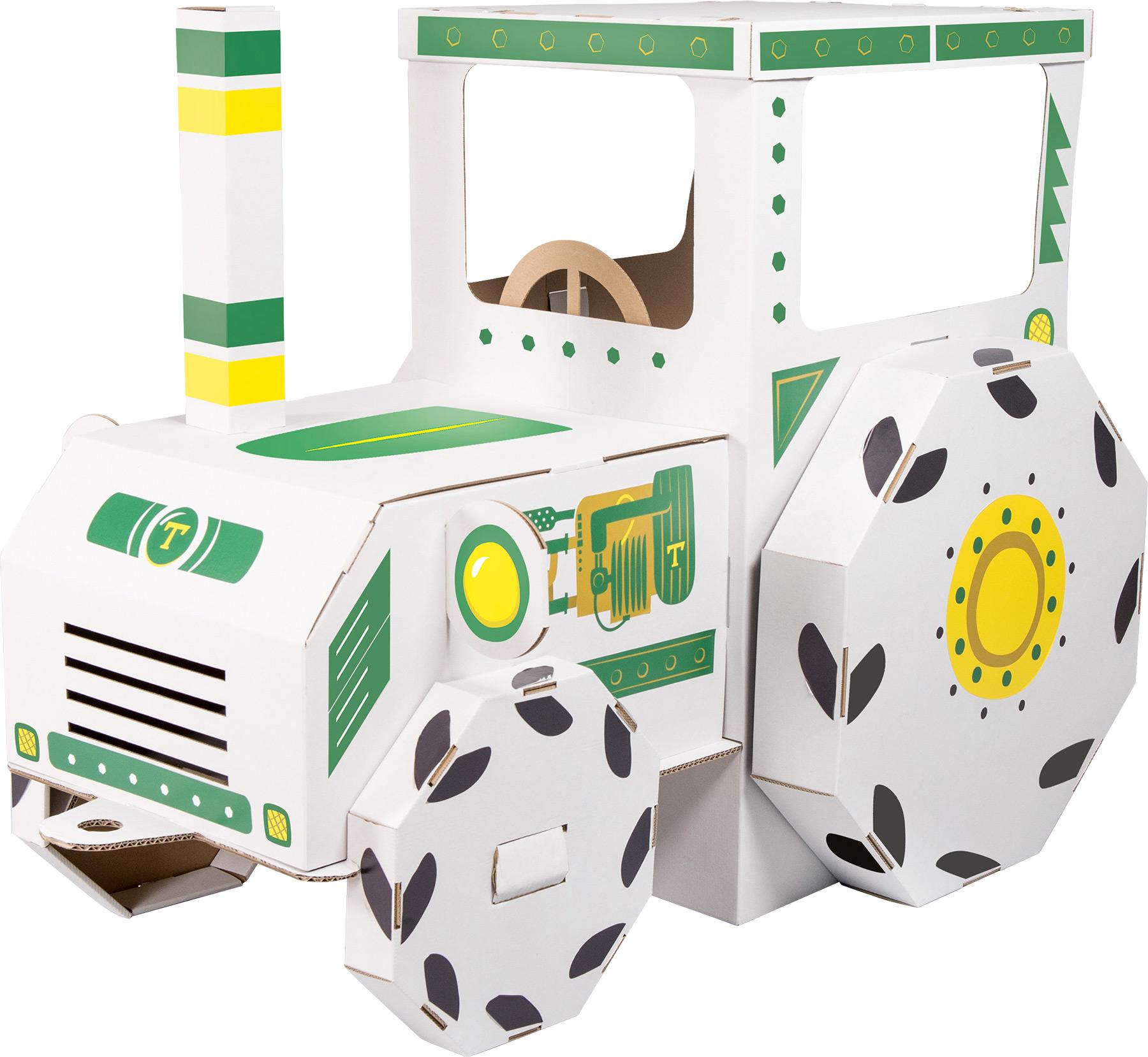 Maison de jeu Tracteur en carton