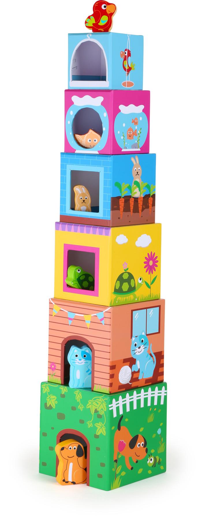 Cubes à empiler Animaux domestiques
