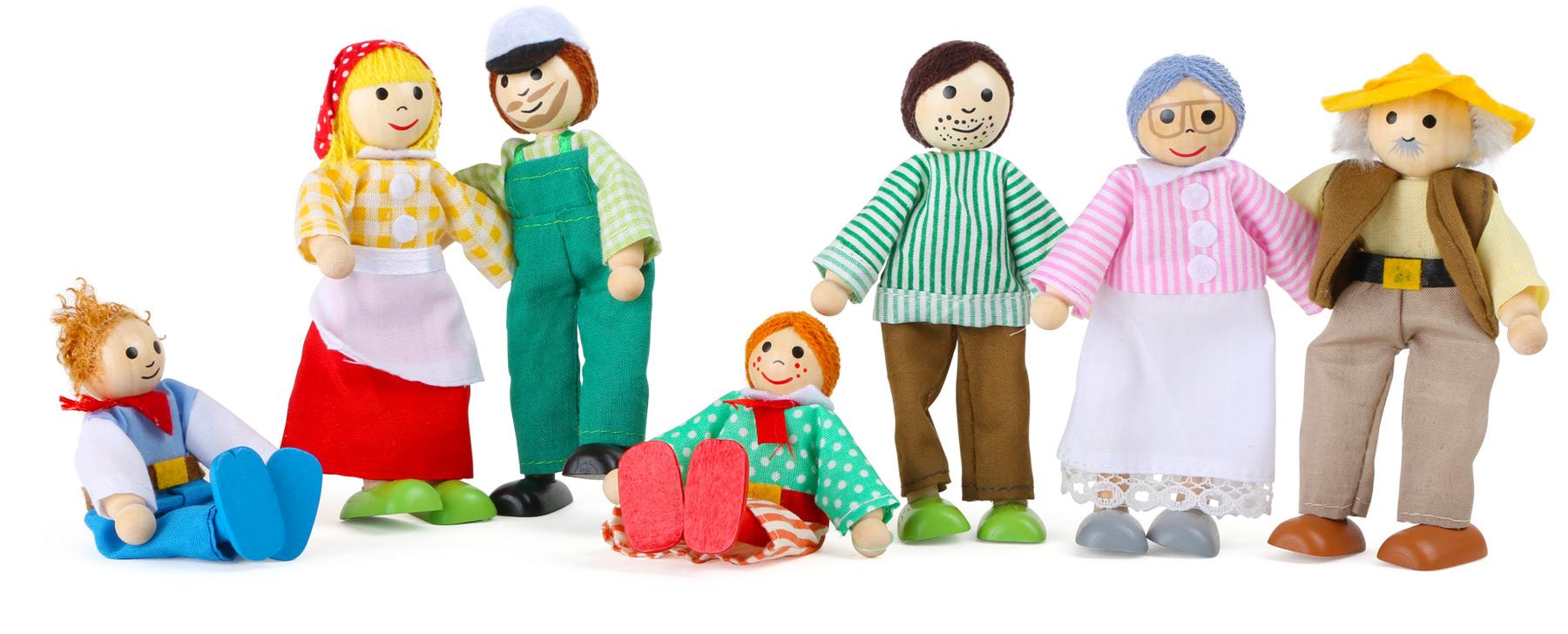 Petites poupées souples Ferme