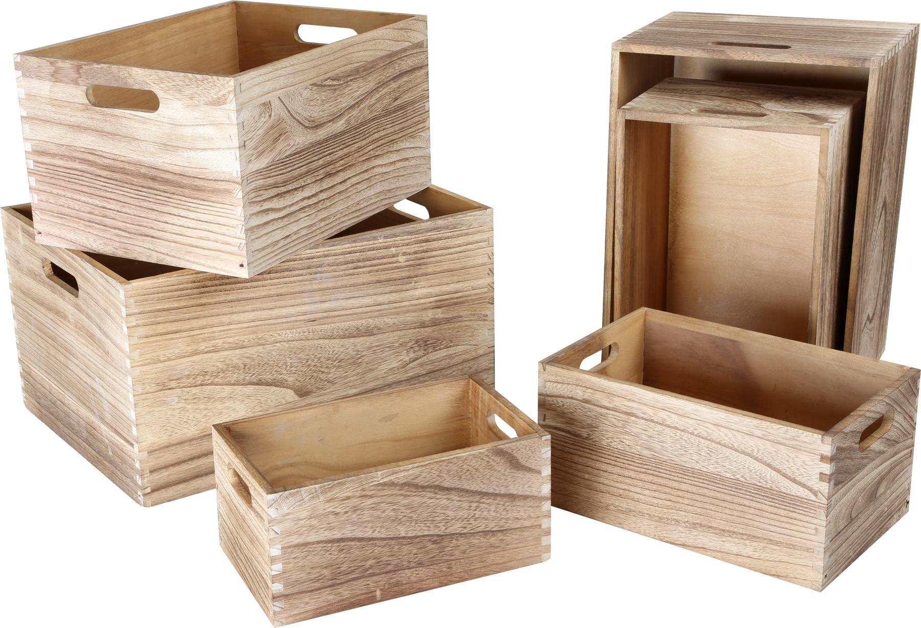 Cassette in legno natura articoli decorativi e da for Articoli da giardino