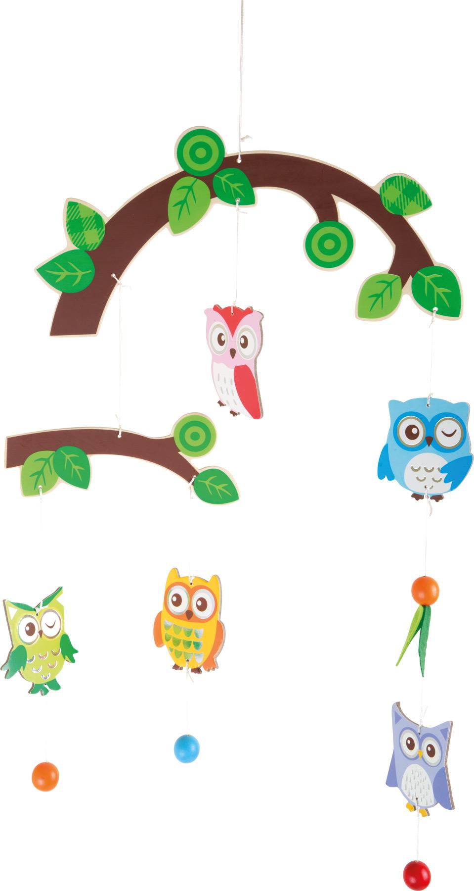 Mobile Chouettes dans l'arbre