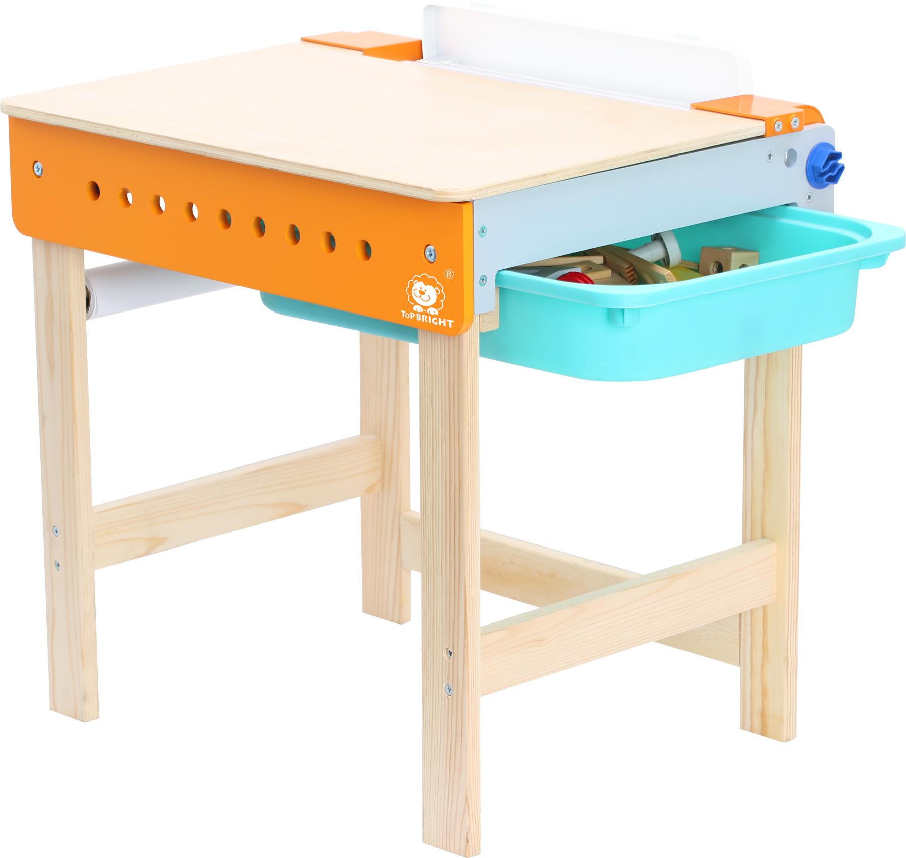 werkbank mit maltisch in der werkstatt rollenspielzeug. Black Bedroom Furniture Sets. Home Design Ideas
