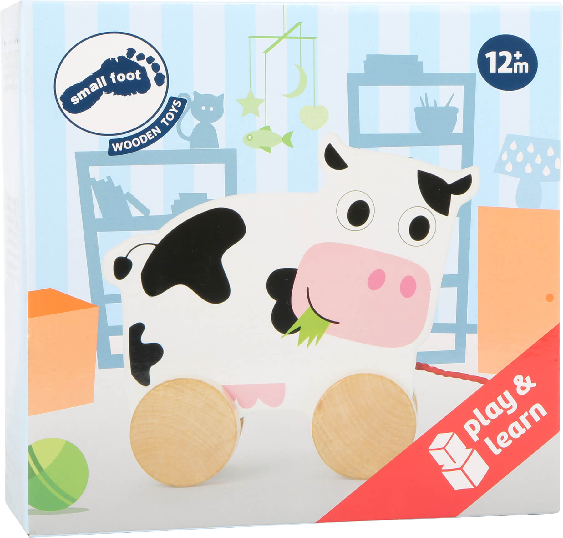 Pull along Cow Pull and Push Along Toys Toys for Toddlers