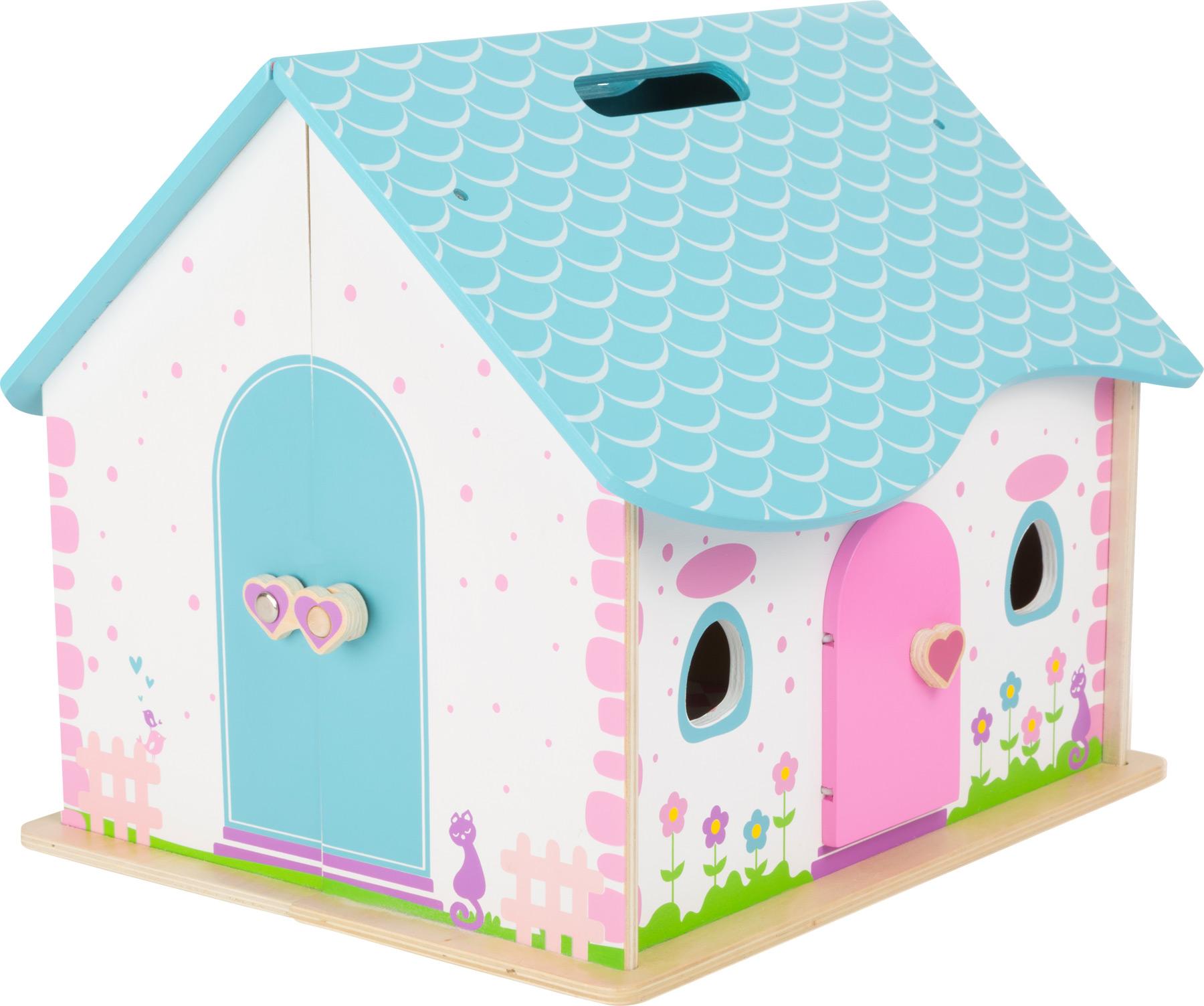 puppenhaus zum aufklappen. Black Bedroom Furniture Sets. Home Design Ideas