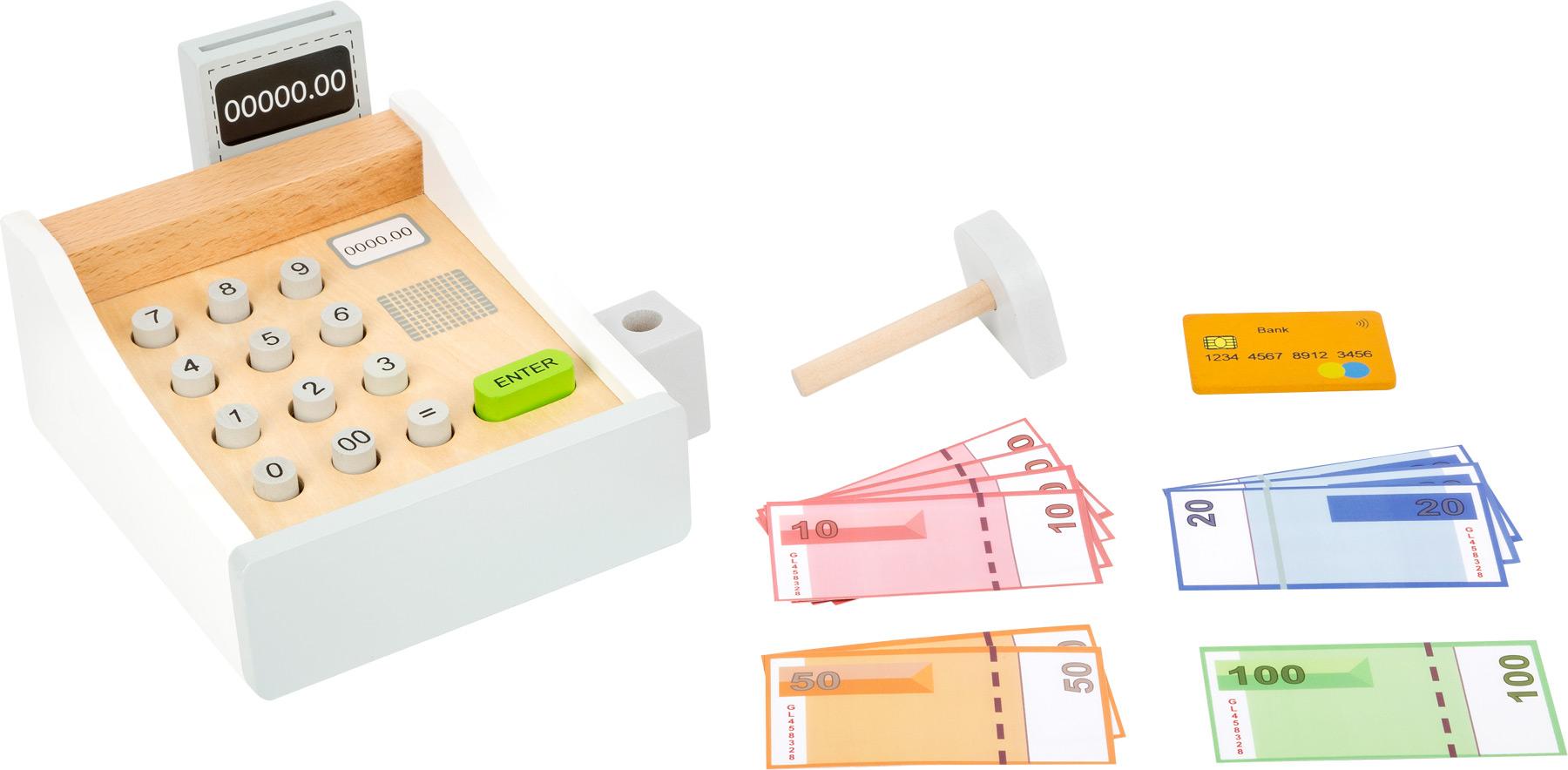 caisse enregistreuse en bois stands de merchandes jeux de r les products. Black Bedroom Furniture Sets. Home Design Ideas