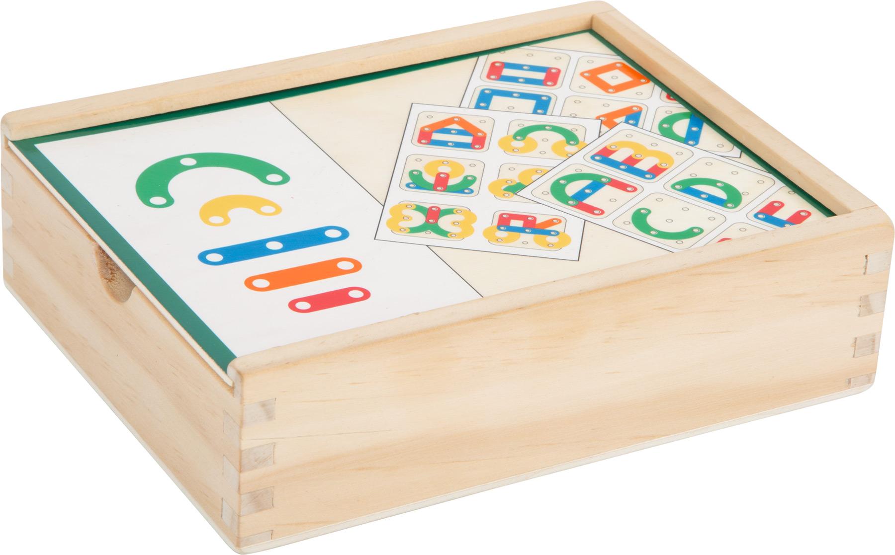 Puzzle ad incastro in legno lettere e numeri