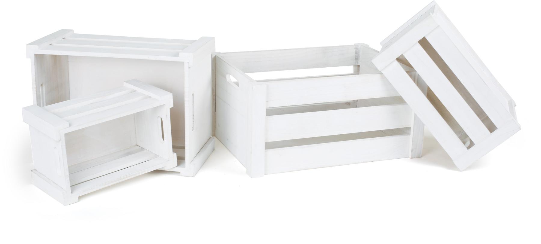 Caisse de bois blanche