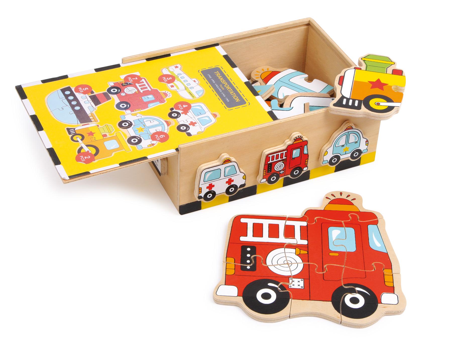 Puzzle boîte véhicules