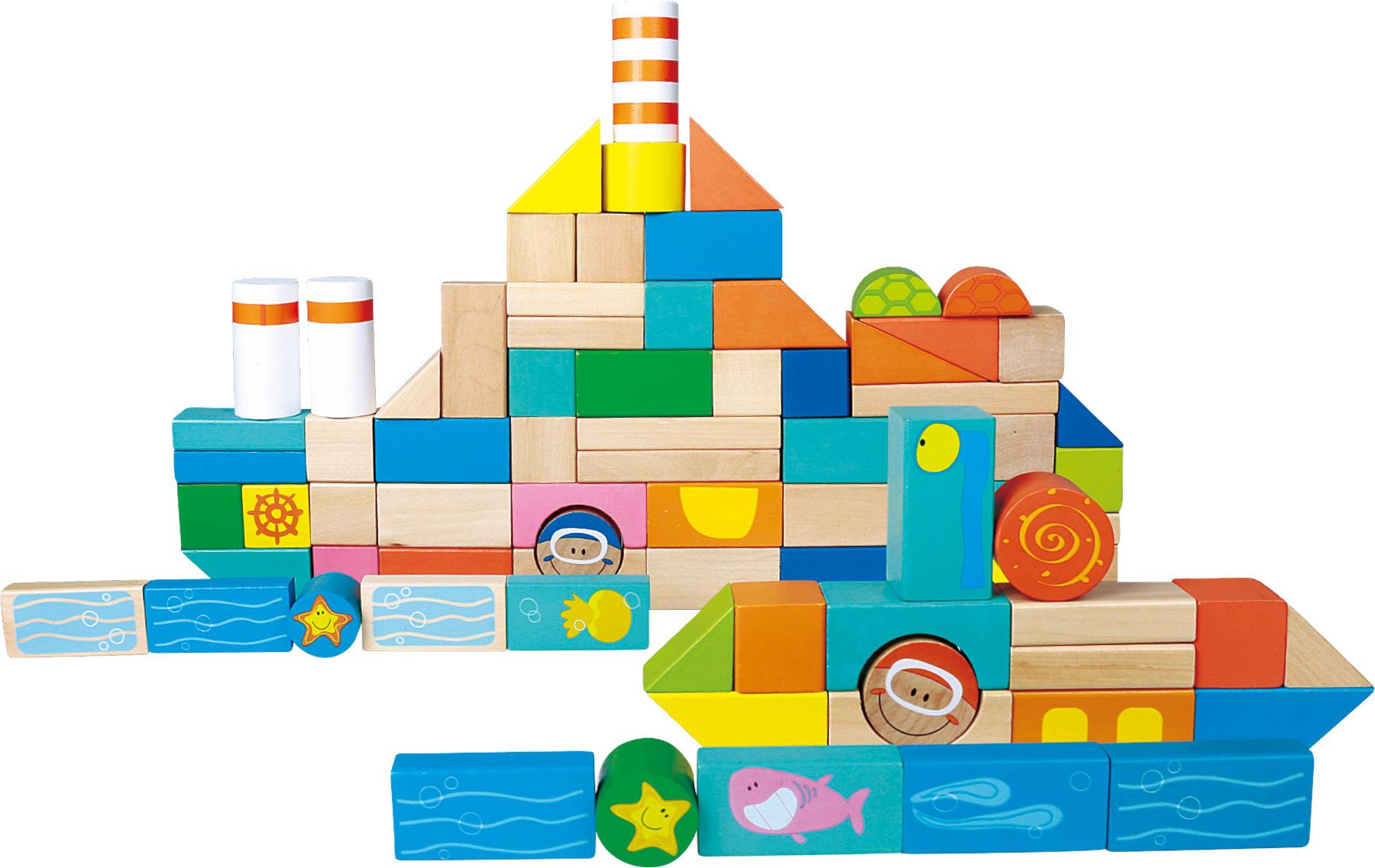 Blocs de construction en bois Monde sous-marin