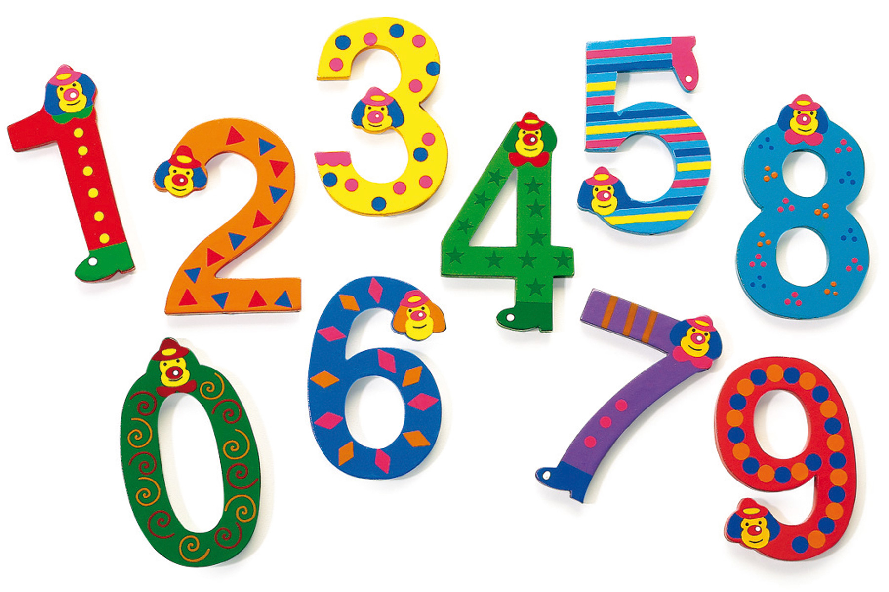 Картинки на цифрах для детей
