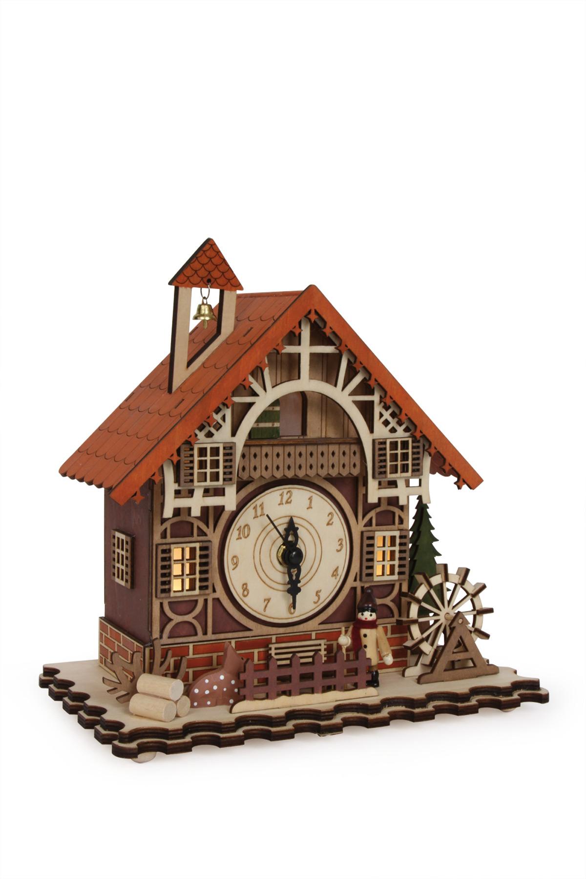 Horloge maison colombages for Horloge maison