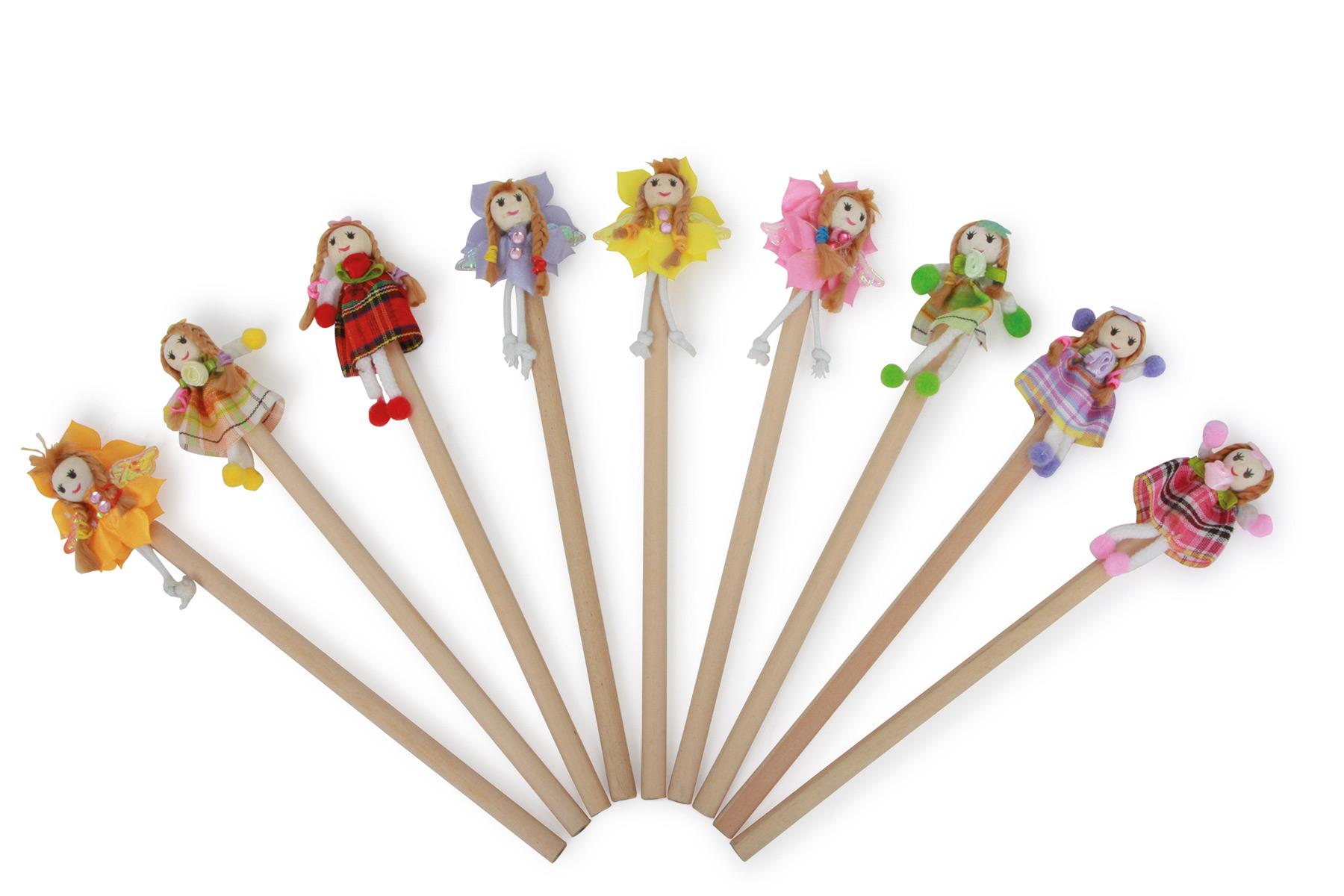 Crayons Fillette aux fleurs