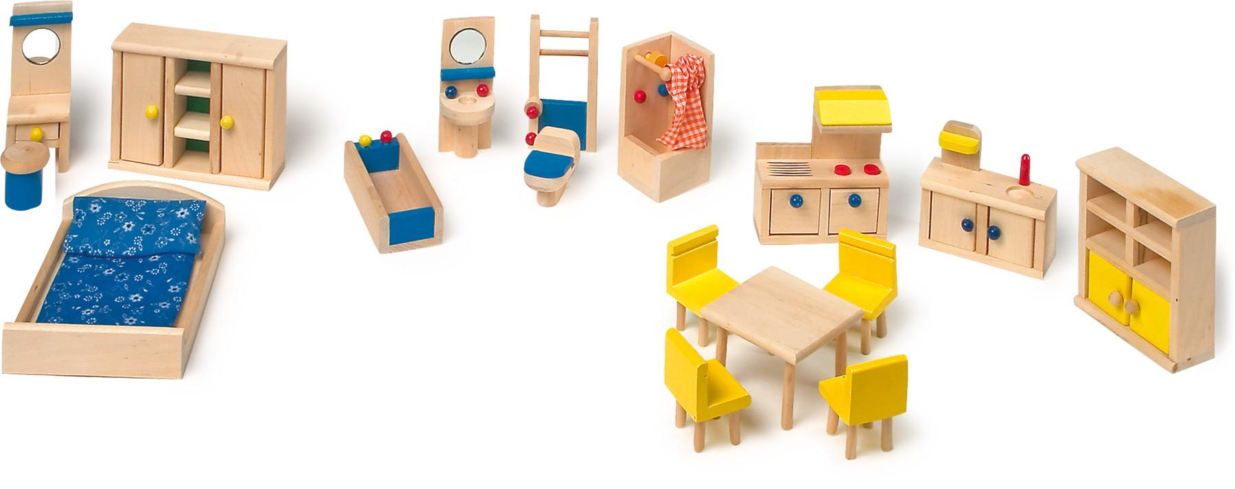 Meubles de poupée avec cuisine