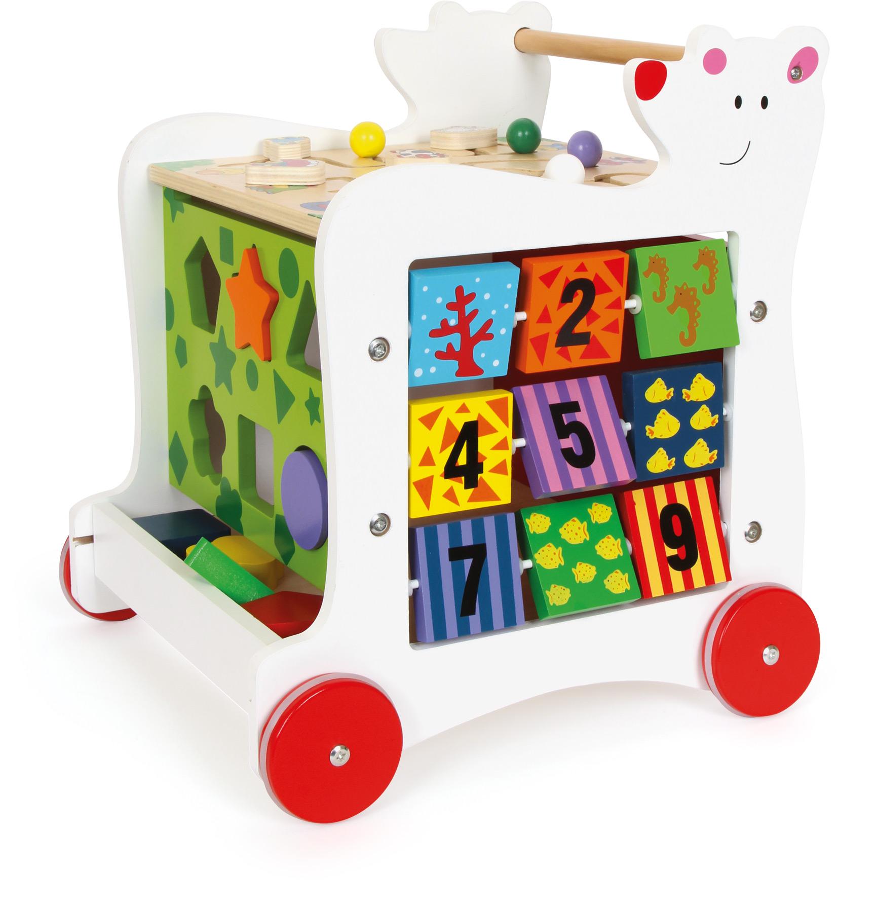 Cube d'activités sur roulettes Ours