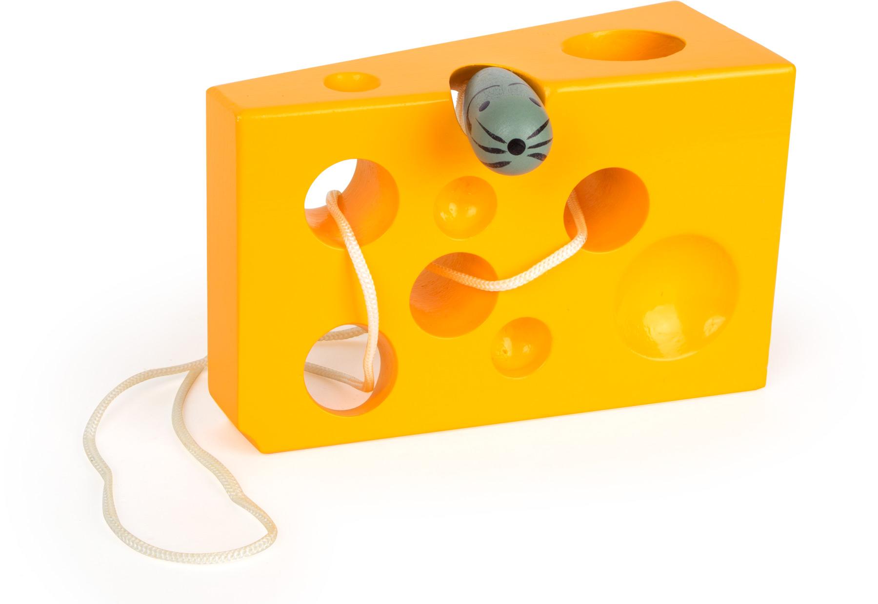Legler Klettergerüst Für Drinnen : Fädelspiel käse und maus gelb