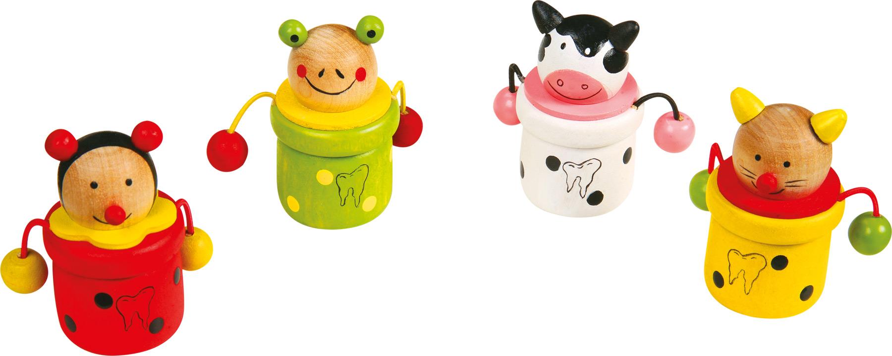 Boîte à dents de lait Animaux, lot de 4