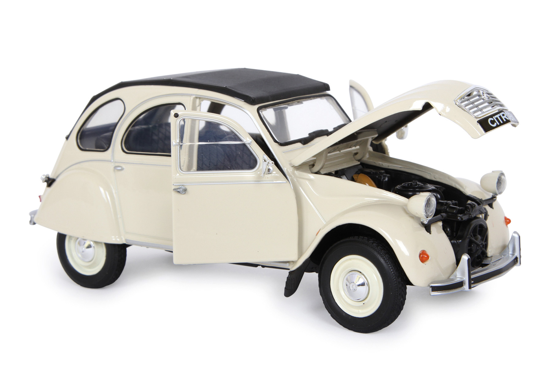 voiture miniature citroen 2cv echelle 1 24. Black Bedroom Furniture Sets. Home Design Ideas
