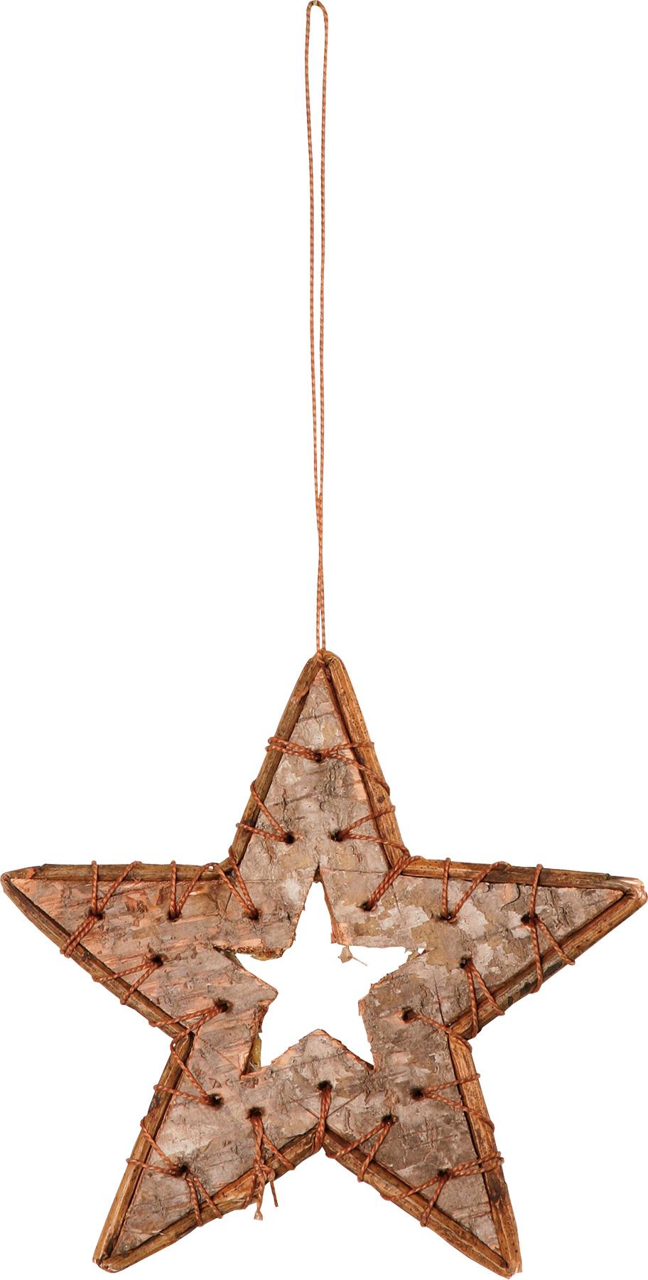 Étoiles en bouleau, 10 cm
